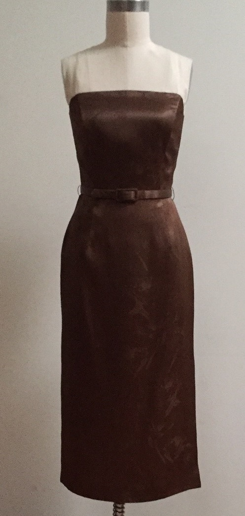 silk cocktail dress